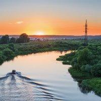 Закат над речкой :: Наталья