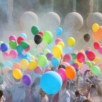 Barcelona. The color run :: Alexey Romanenko