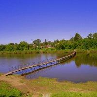 Временный , подвесной мостик . :: Мила Бовкун