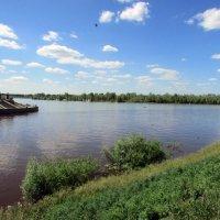 Слияние двух рек  Иртыша и Оми :: раиса Орловская