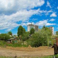 ДОМИК  В  ДЕРЕВНЕ  город  томск   ПАНОРАМА :: михаил пасеков