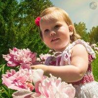 Девочка с пионами :: Анна Журавлева