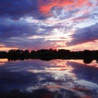 Акварельный закат. :: Антонина Гугаева