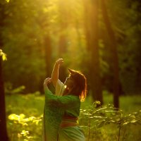 Закат в лесу :: Ludmila Zinovina