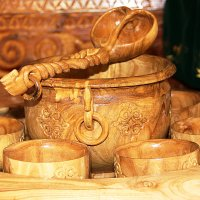 Национальная казахская посуда для кумыса. :: TATYANA PODYMA