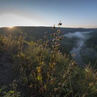 Рассвет над рекой Бердь. :: Александр Гурьянов