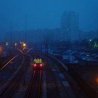 Убежал трамвай в синюю даль... :: Валентина Данилова