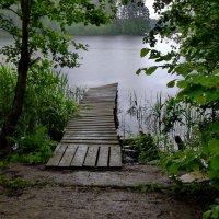 Дождь на озере. :: Харис Шахмаметьев
