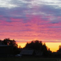 Закат в Северной деревушке. :: Юлия Лохова