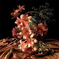 Розовые лилии  (цветной  вариант) :: Валерия  Полещикова