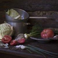 Вот овощи спор завели на столе. :: Оксана Евкодимова
