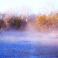 Утренний туман на речке-весна :: Виктор Штабкин
