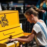 Желтое пианино в Михайловском саду... :: Андрей Вестмит