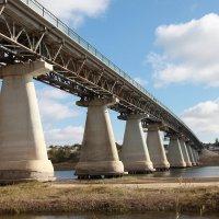 Мост через реку Ахтуба, Волгоградская область :: Ольга Кучаева