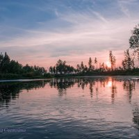 Река… Закат... :: Светлана
