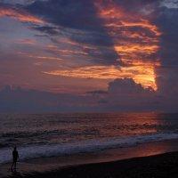 ...Море.Девушка и закат . :: Виолетта
