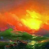 """Фото копия картины """"Девятый вал"""" :: Валерий Лазарев"""
