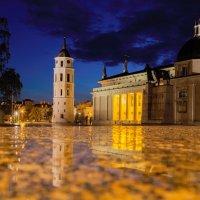 Вильнюс. Кафедральная площадь ночью после дождя. :: Александр Манько