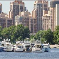 Река,катера,дома. :: Владимир Гилясев
