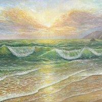 """Фото моей картины """"Рассвет над морем"""" :: Эля Юрасова"""