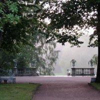 Лестница Большая Каменная (Итальянская) в Павловском парке. Ливень :: Елена Павлова (Смолова)