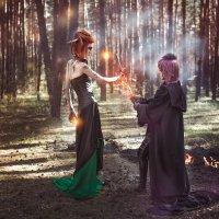 Ведьма vs Черный Ангел :: Мария Дергунова