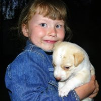 Полинка и щенок :: Александр Прокудин