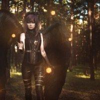 Черный ангел :: Мария Дергунова