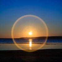 вечерело (закат над озером) :: Андрей Иванов