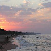 Закат над пляжем, Азовское море :: Marina K