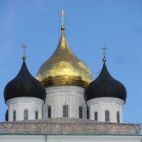 Псков: купола Троицкого Собора, 24 июля 2015... :: Владимир Павлов