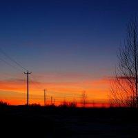 Зимний закат :: Дмитрий Ф