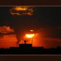 красный закат :: валерий шлычков