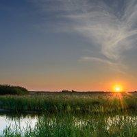 Закат у озера :: Дмитрий Брошко
