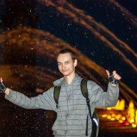 У фонтана в парке 300-летия :: Михаил Вандич