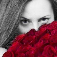 Портрет с розами :: Александр Иванов