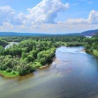 полдень на реке Киренга :: Александр