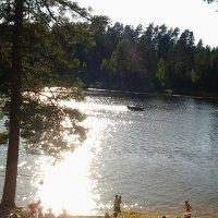 Августовский вечер на реке Оредеж. :: Жанна Викторовна