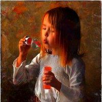 Девочка и мыльный пузырь :: Станислав Лебединский