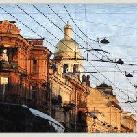 вечерний городской пейзаж с куполом колокольни Владимирской церкви :: sv.kaschuk