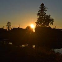 закат в деревне :: Диана Черник