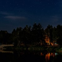 Ночь на озере. :: Владимир Фисенко