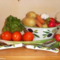 Овощи и яблоки :: Nina Yudicheva