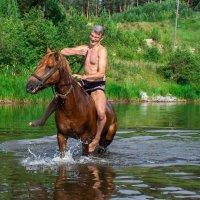 Купание коня :: Светлана Игнатьева