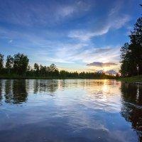 Закат на реке Зима :: Алексей Белик