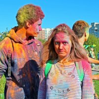 Северодвинск. Фестиваль красок. Реакция :: Владимир Шибинский