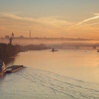 На мосту через реку Самару. :: Николай Алехин