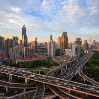 Развязка в Шанхае в закате (серия из 3х фото) :: Александр Черкасов