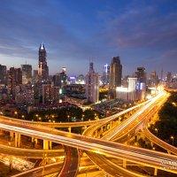 Развязка в Шанхае в сумерках (серия из 3х фото) :: Александр Черкасов