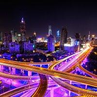 Развязка в Шанхае, ночь :: Александр Черкасов